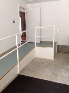 Garage safety ramp and railing makes a home accessible for decades to come.